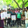 Students protest outside SOL, demand committee against sexual harassment