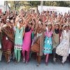Girl students stage one-leg protest over lack of facilities